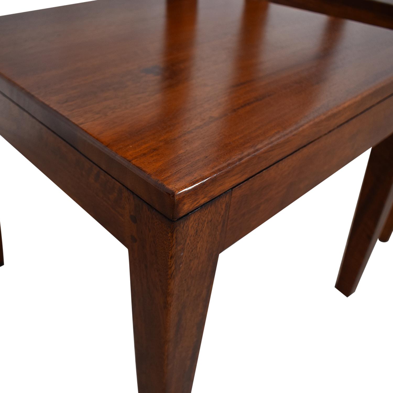 shop Crate & Barrel Basque Honey Wood Dining Chairs Crate & Barrel