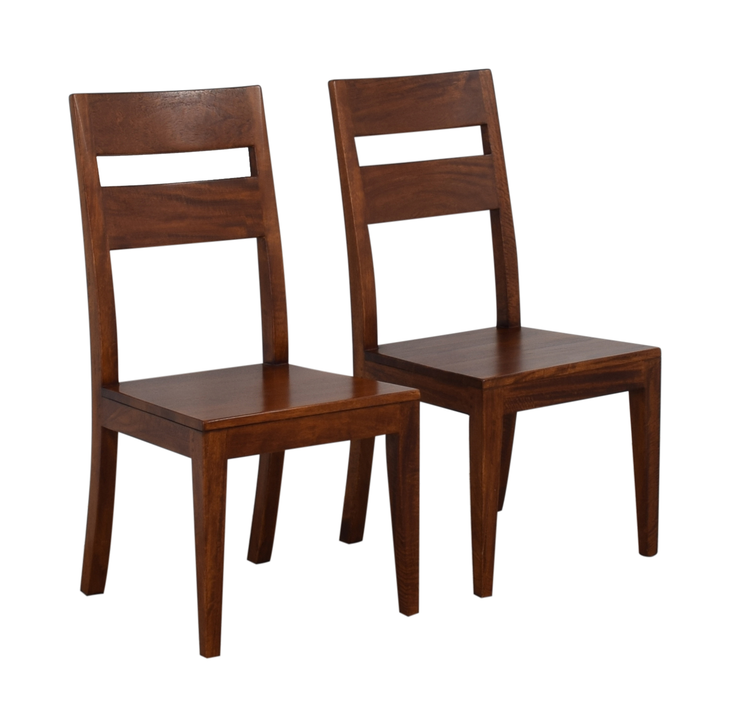 buy Crate & Barrel Basque Honey Wood Dining Chairs Crate & Barrel Chairs