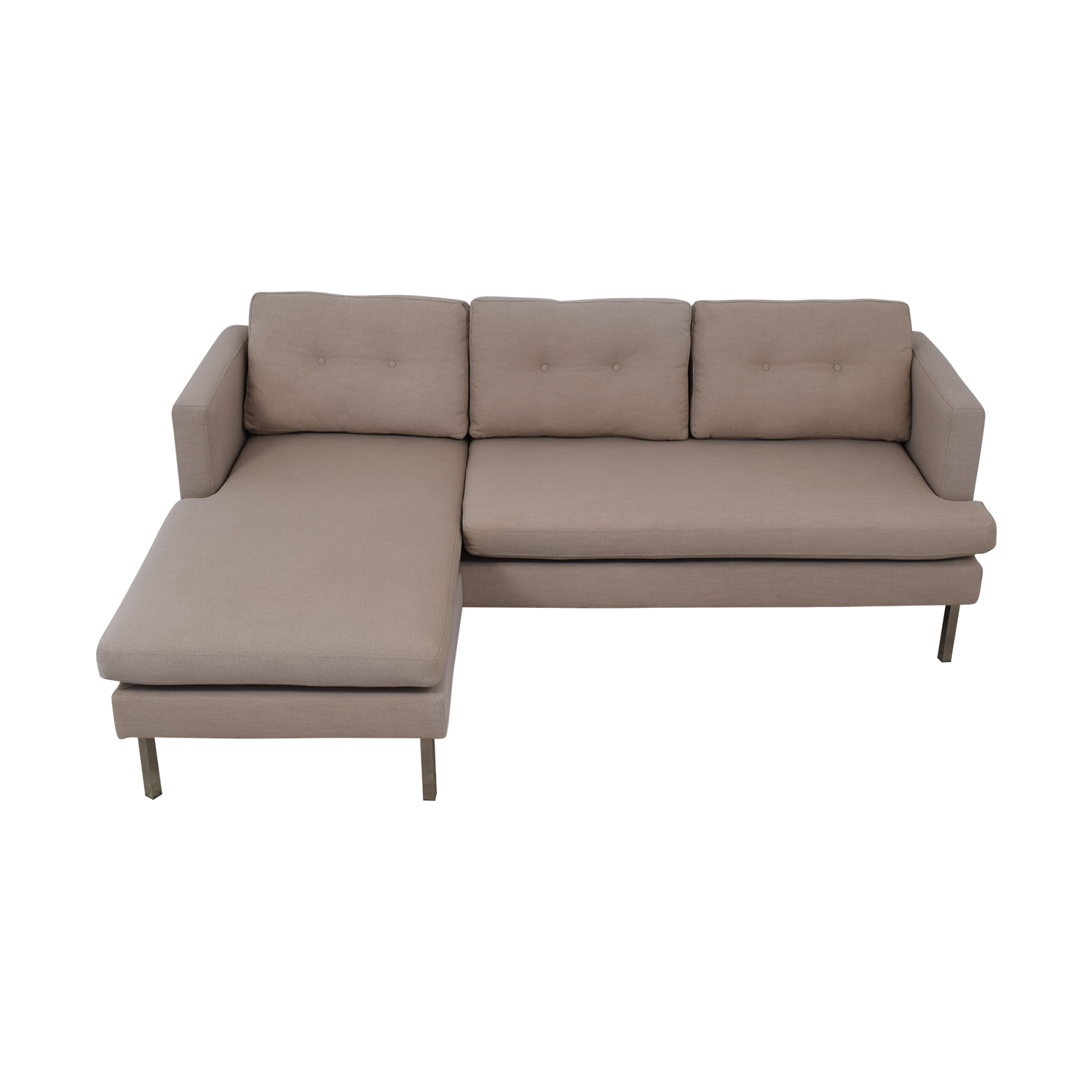West Elm West Elm Beige Chaise Sectional for sale
