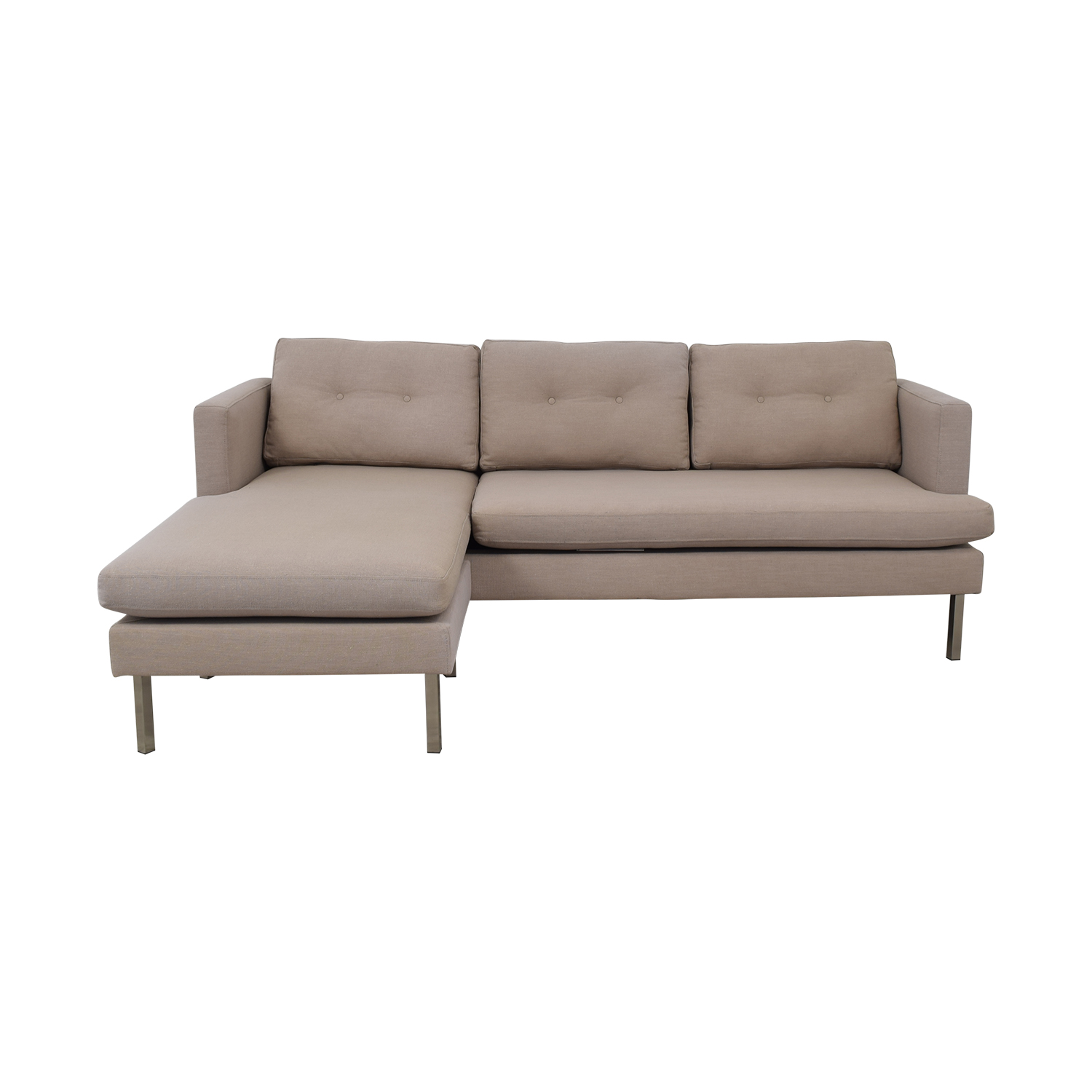 West Elm West Elm Beige Chaise Sectional coupon