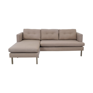 West Elm West Elm Beige Chaise Sectional dimensions