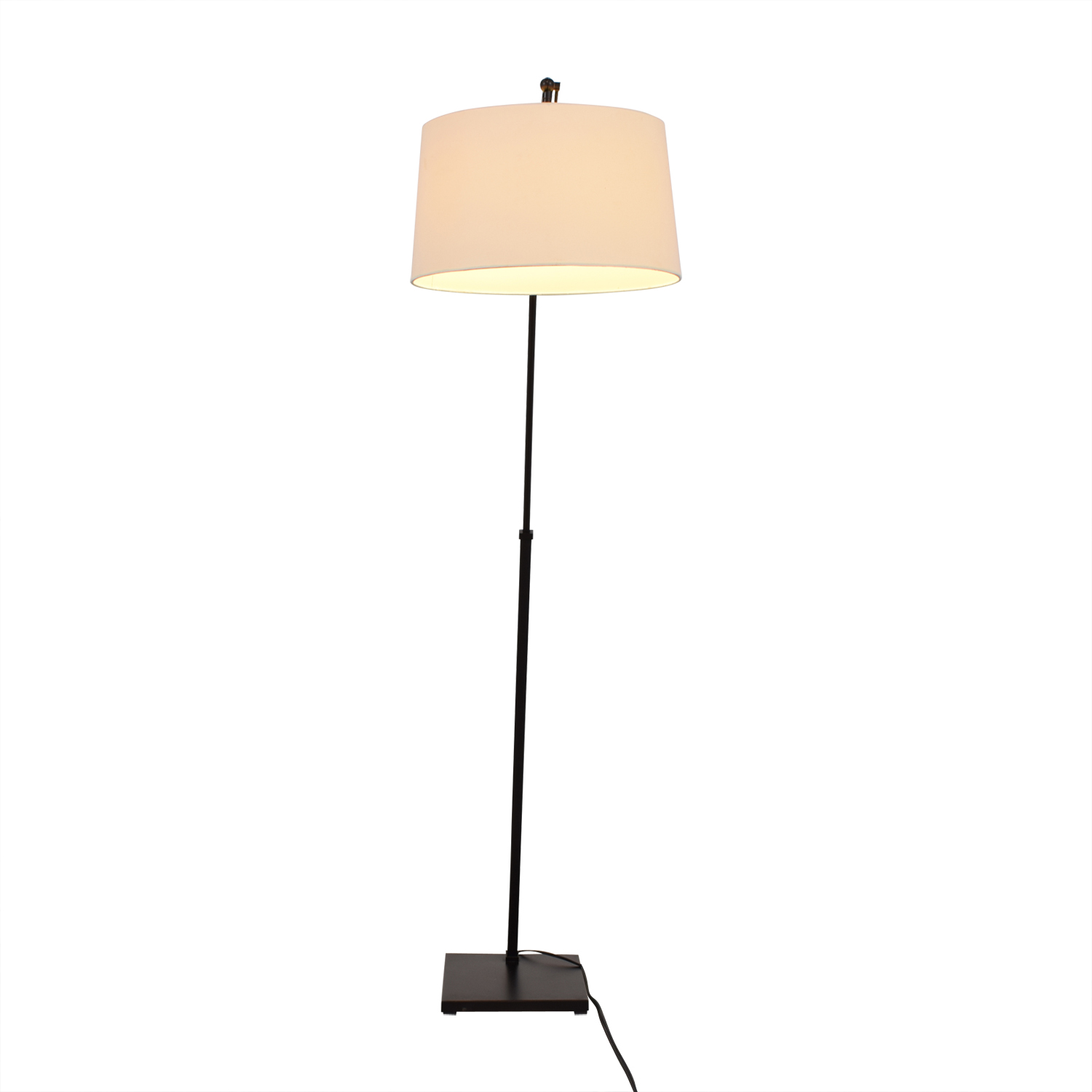 Crate & Barrel Crate & Barrel Dexter Arc Floor Lamp with White Shade for sale