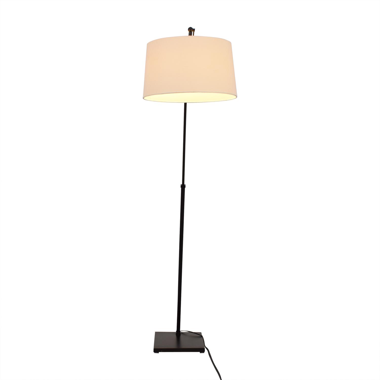 shop Crate & Barrel Dexter Arc Floor Lamp with White Shade Crate & Barrel