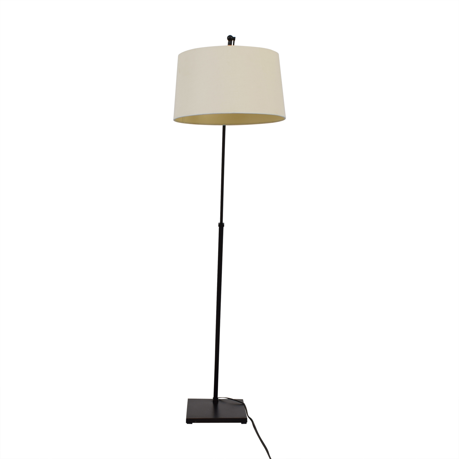 shop Crate & Barrel Dexter Arc Floor Lamp with White Shade Crate & Barrel