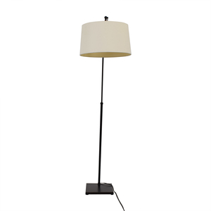 buy Crate & Barrel Dexter Arc Floor Lamp with White Shade Crate & Barrel