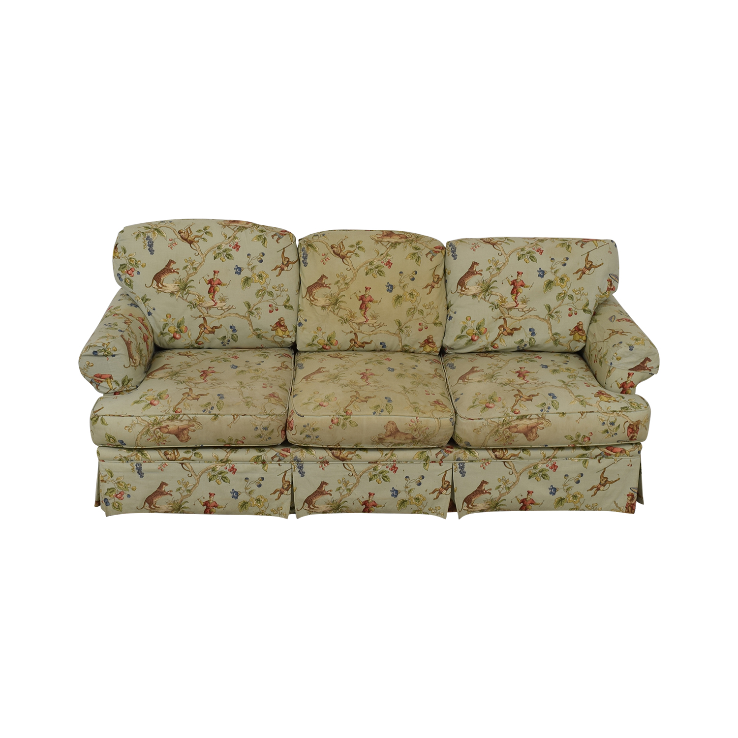 Harden Harden Scalamandre Upholstered Three-Cushion Sofa on sale
