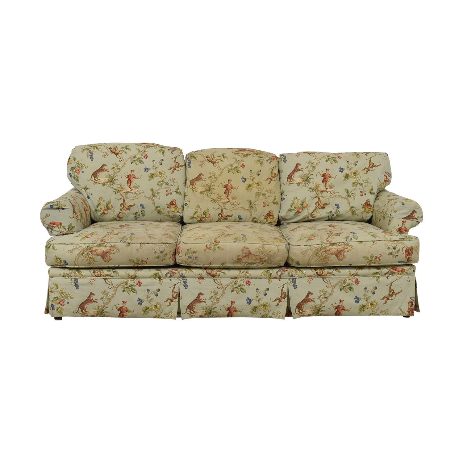 Harden Scalamandre Upholstered Three-Cushion Sofa Harden