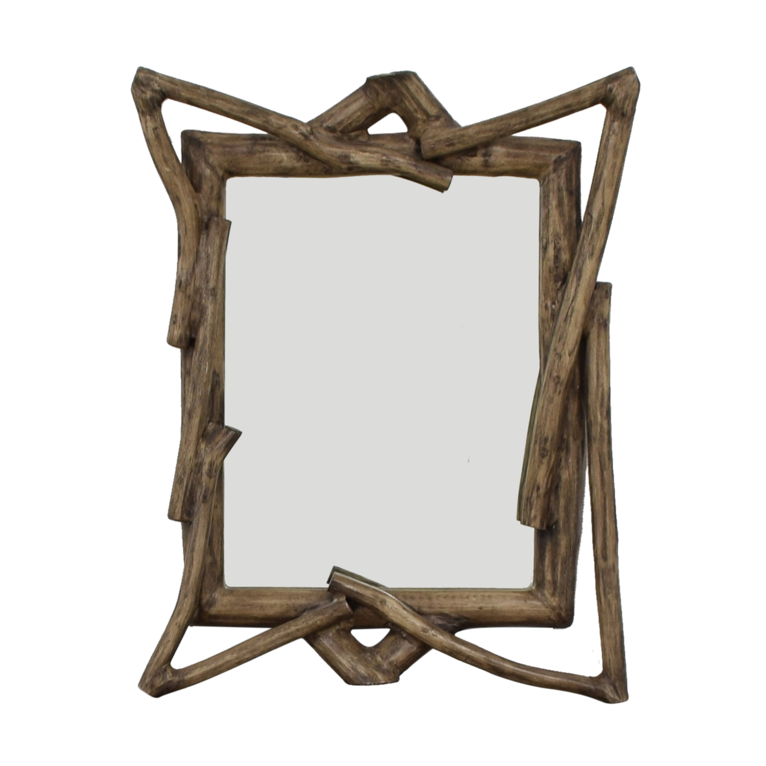 West Elm Rustic Wood Wall Mirror West Elm
