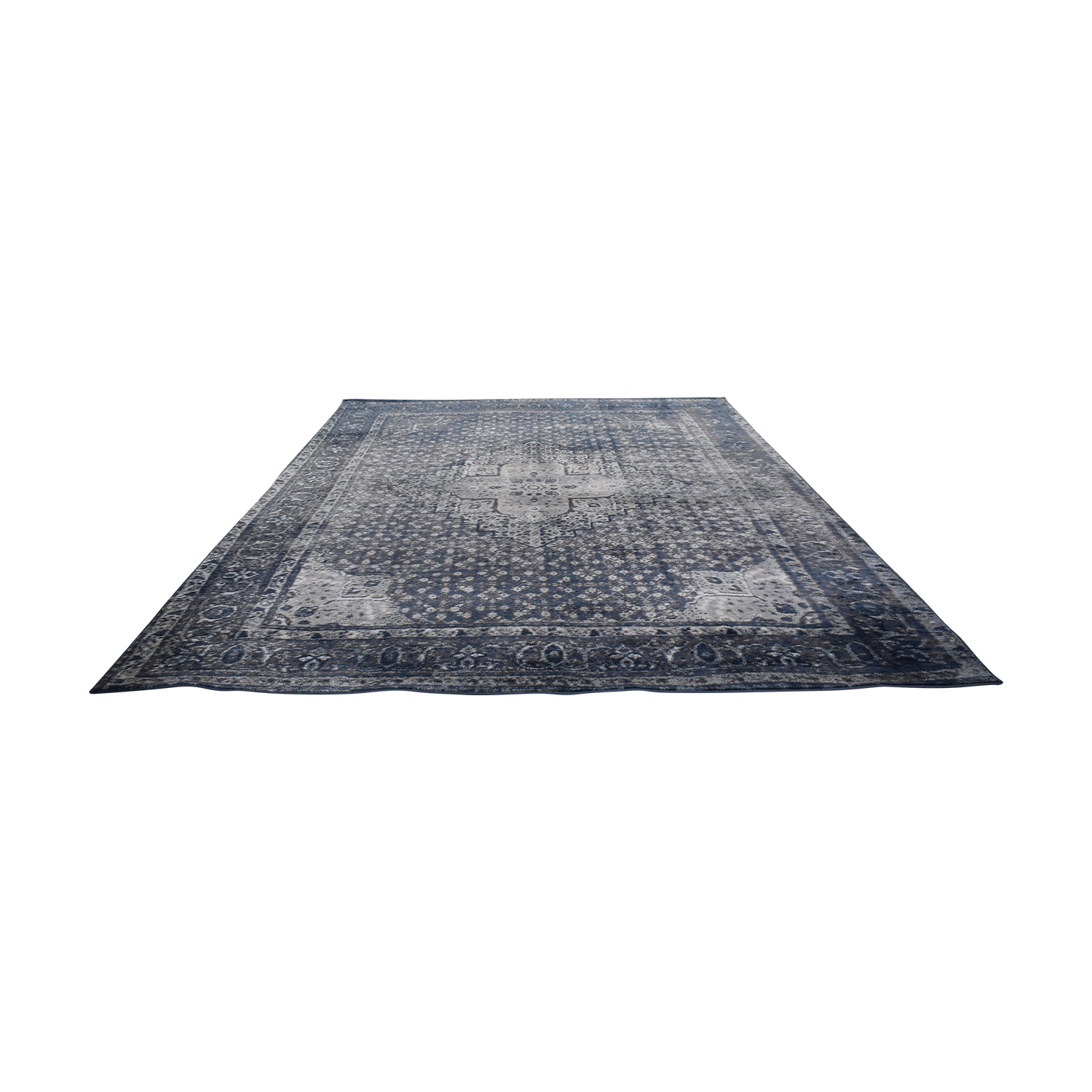 buy Nuloom Traces Large Blue and Grey Area Rug NuLoom Rugs