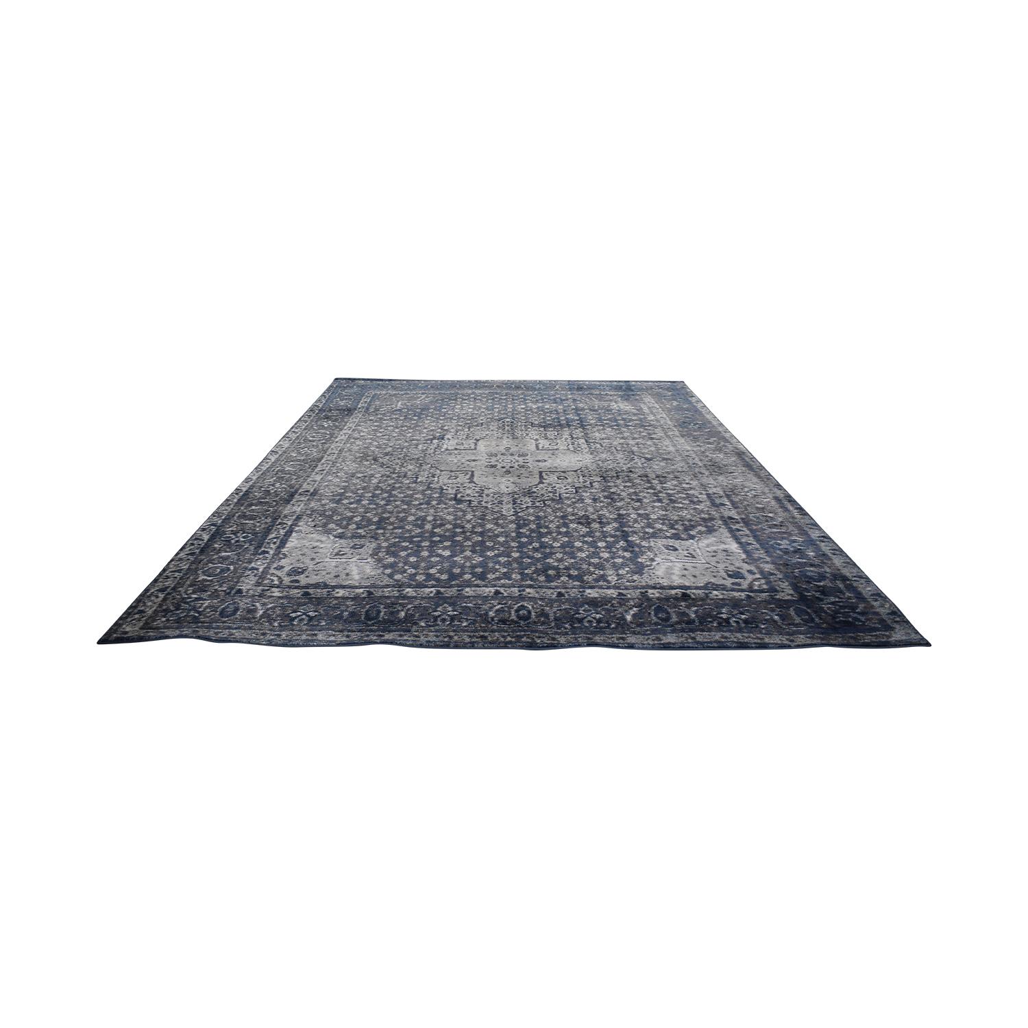 NuLoom Nuloom Traces Large Blue and Grey Area Rug dimensions