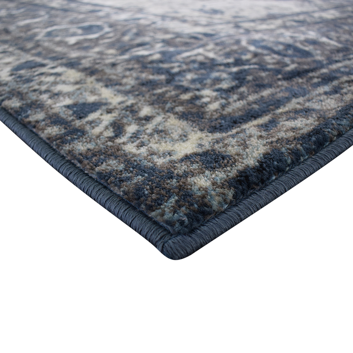 shop Nuloom Traces Large Blue and Grey Area Rug NuLoom
