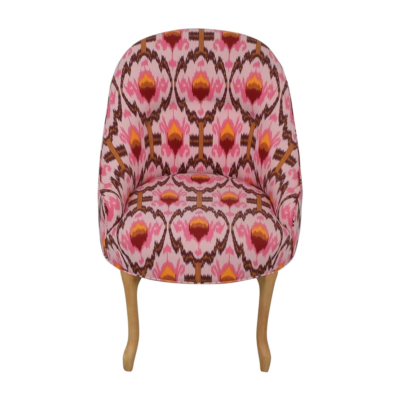 shop Vanguard Furniture Anthropologie Ikat Raspberry Chair Vanguard Furniture Accent Chairs
