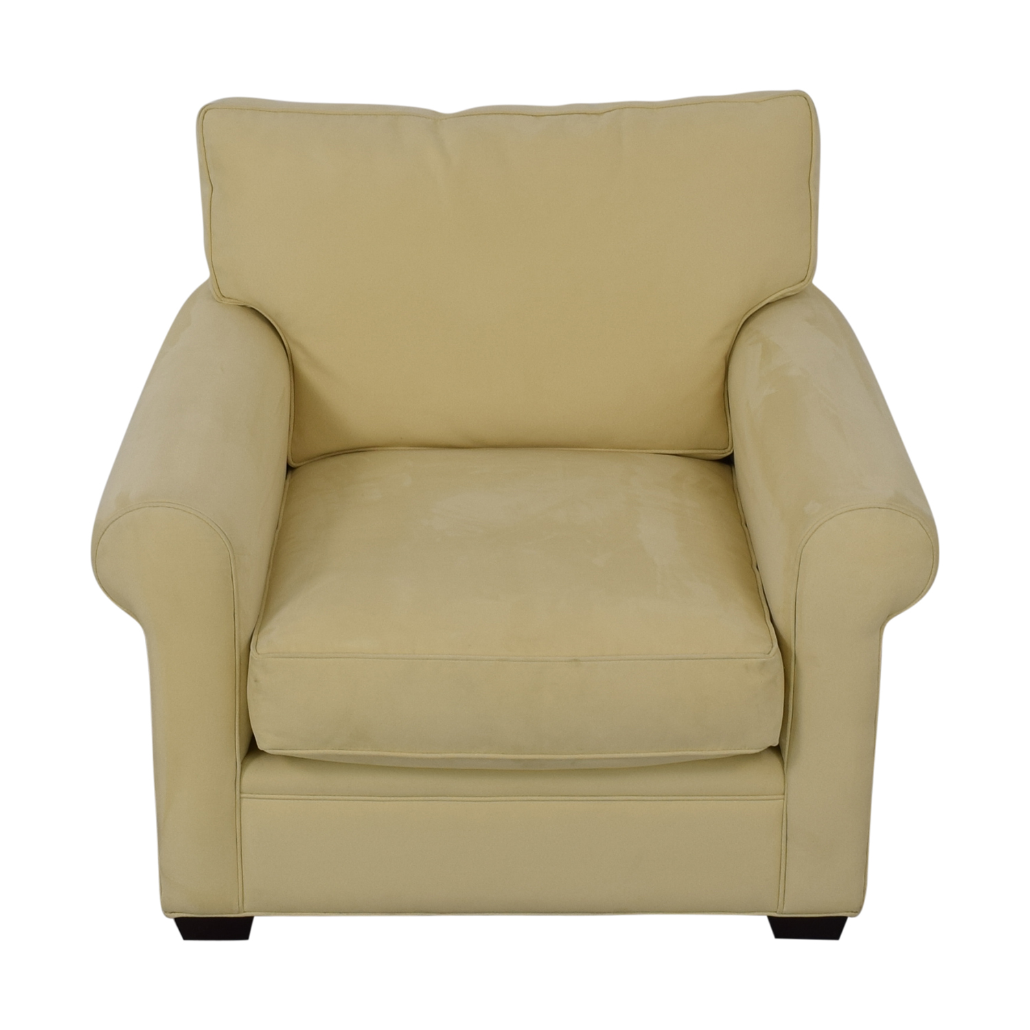 Crate & Barrel Crate & Barrel Yellow Oversized Accent Chair