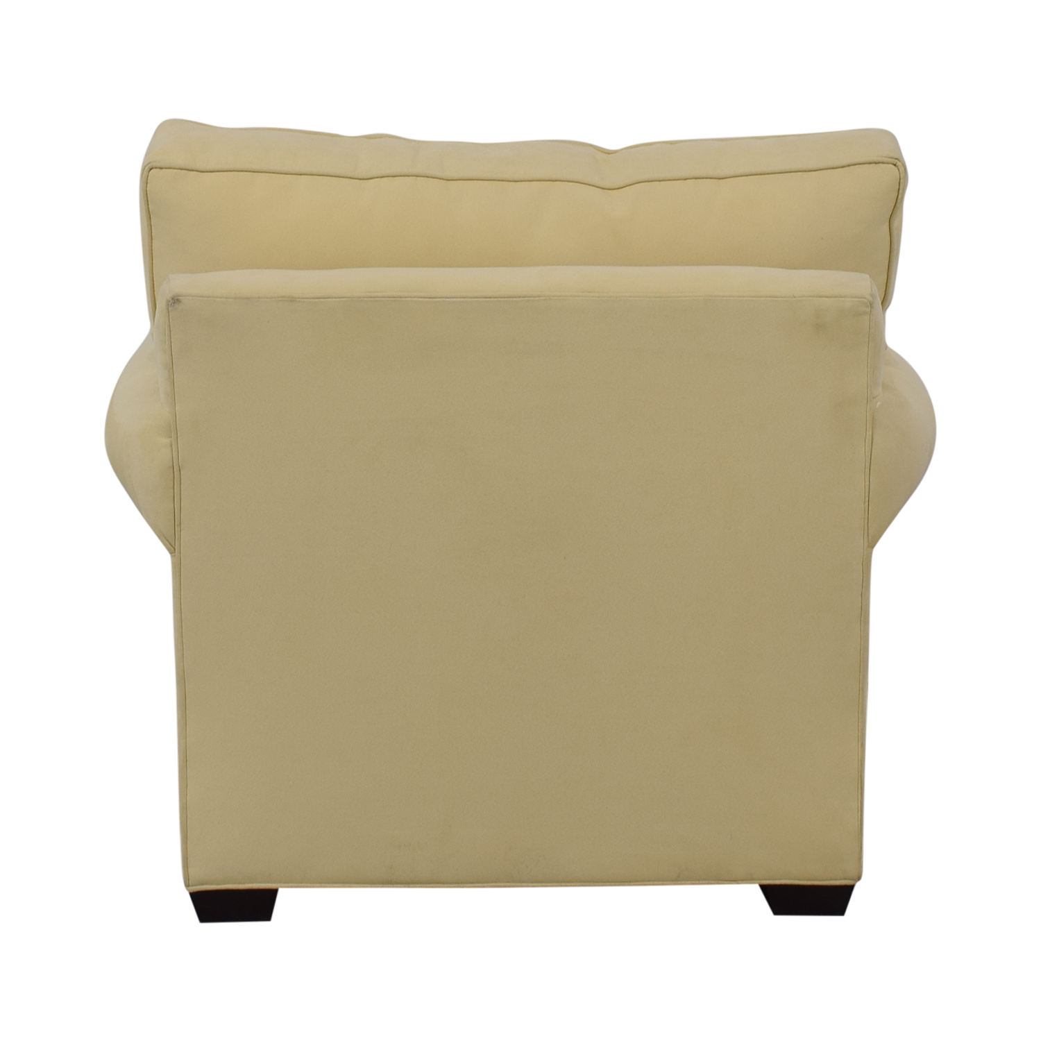 Crate & Barrel Crate & Barrel Yellow Oversized Accent Chair for sale