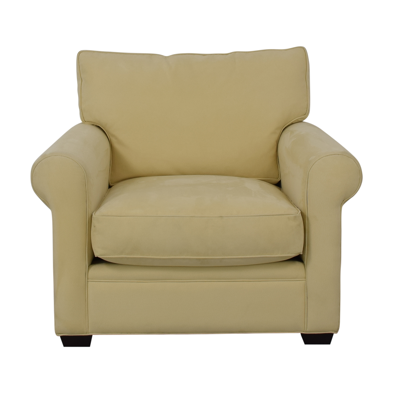 shop Crate & Barrel Yellow Oversized Accent Chair Crate & Barrel Accent Chairs