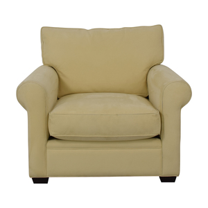 buy Crate & Barrel Crate & Barrel Yellow Oversized Accent Chair online
