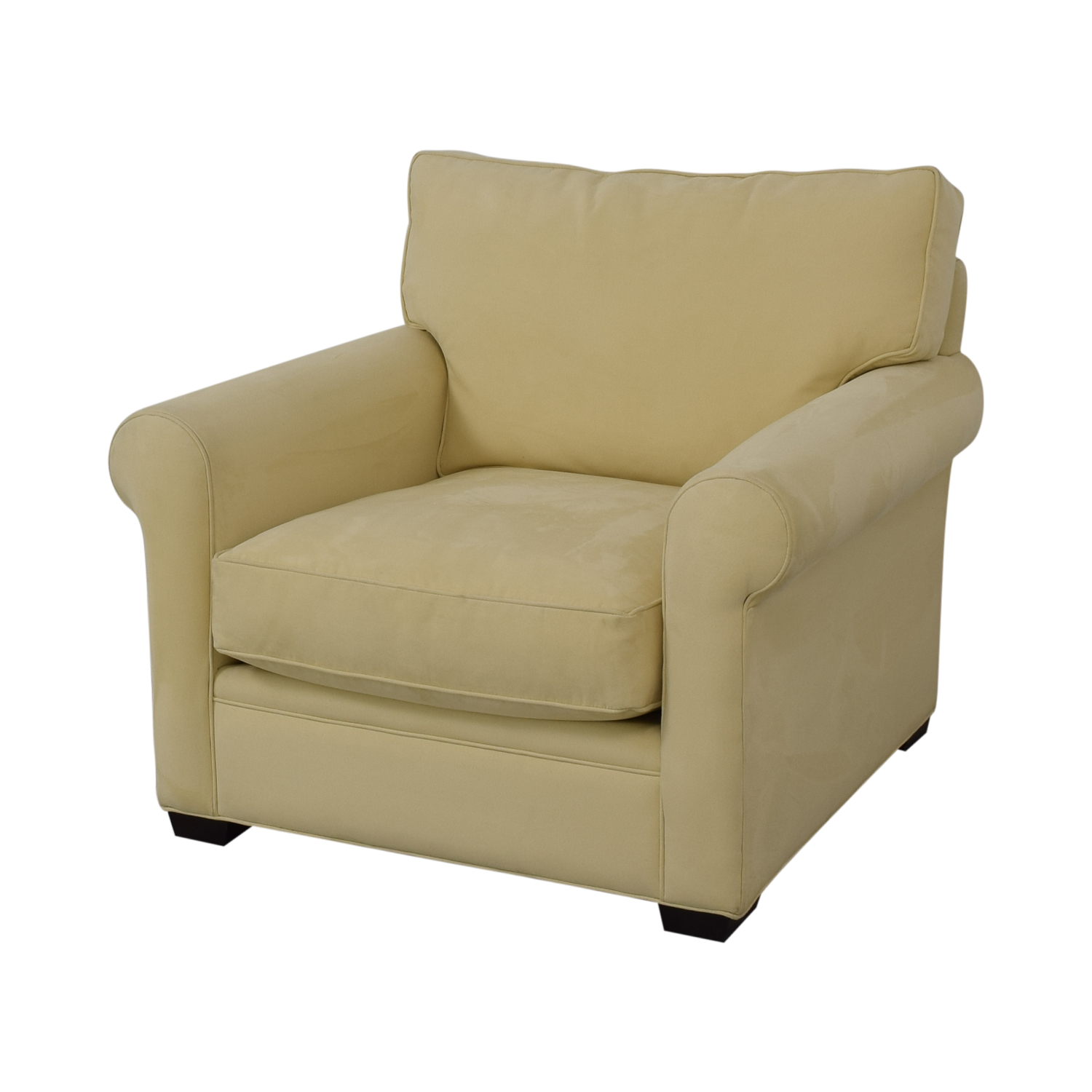Crate & Barrel Yellow Oversized Accent Chair / Chairs