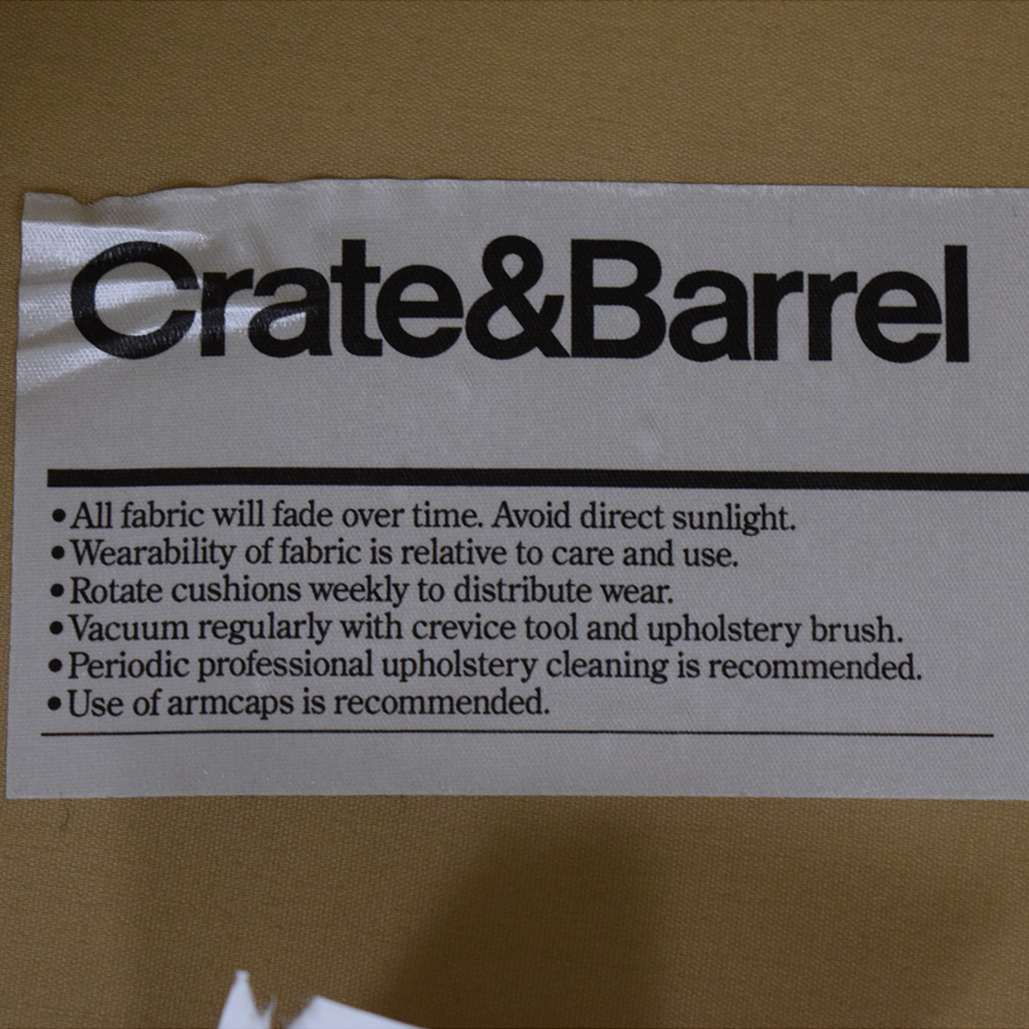 Crate & Barrel Yellow Oversized Accent Chair / Accent Chairs