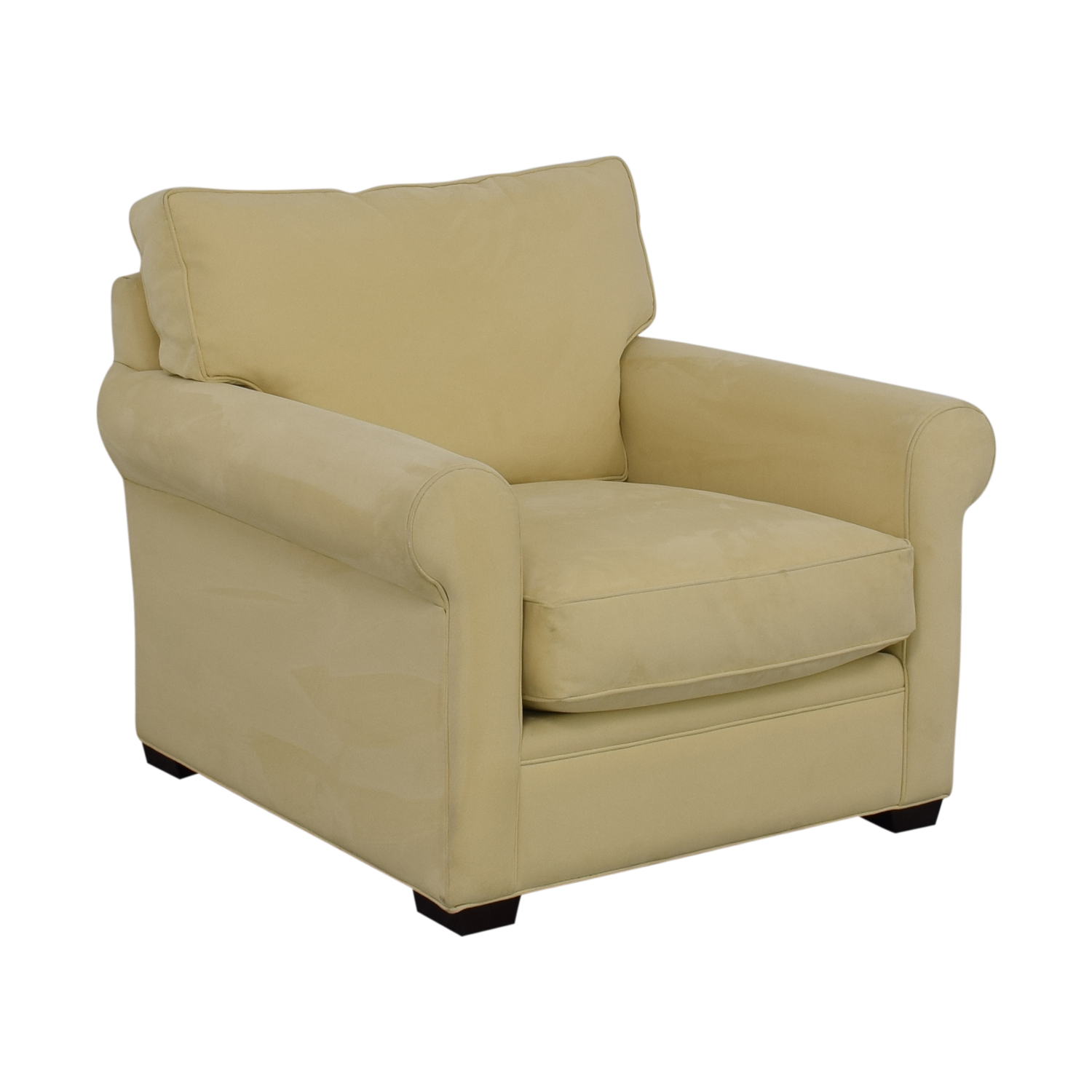 Crate & Barrel Crate & Barrel Yellow Oversized Accent Chair Accent Chairs