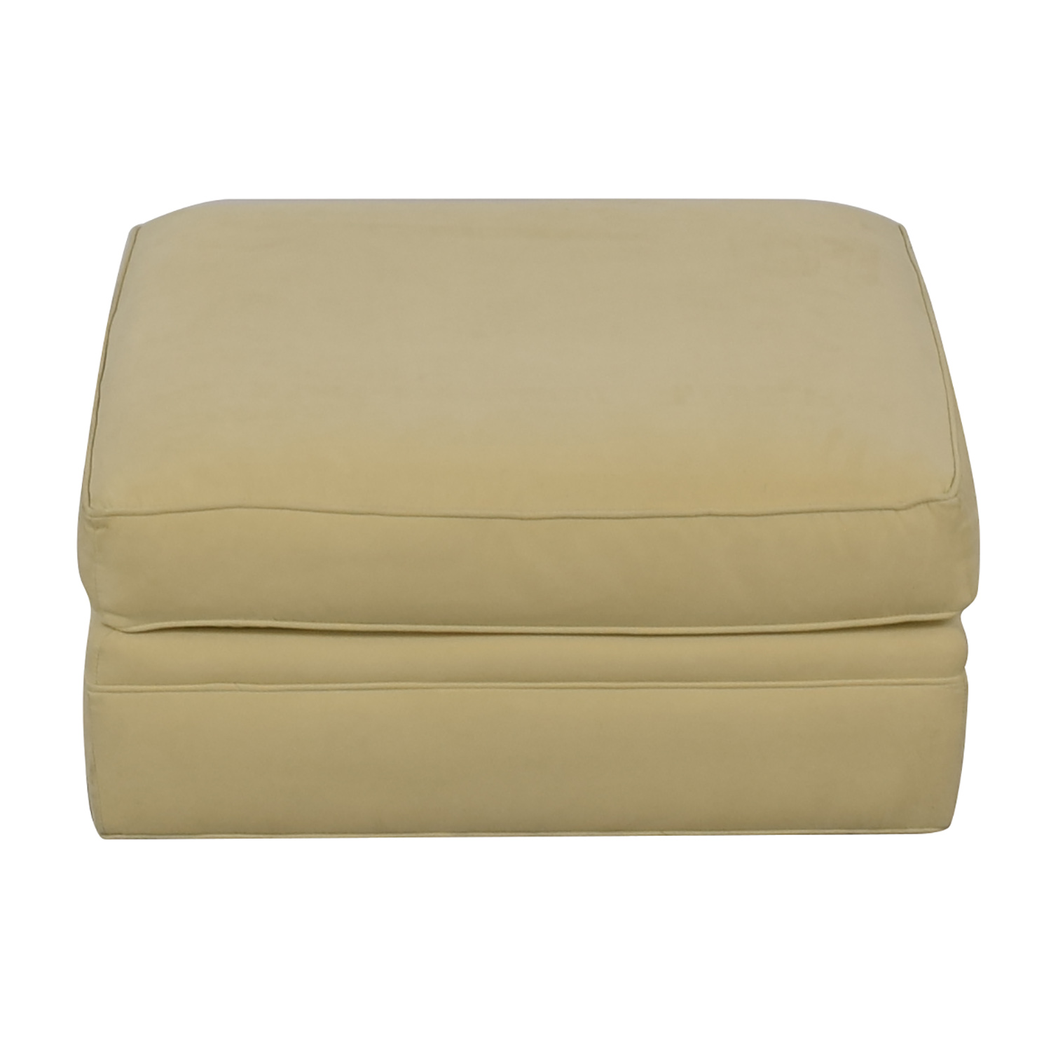 Crate & Barrel Beige Ottoman / Ottomans