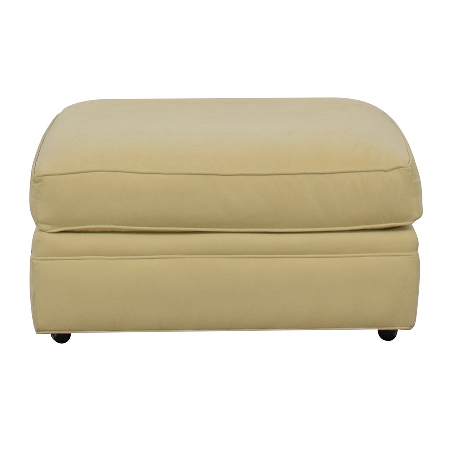 Crate & Barrel Crate & Barrel Beige Ottoman nyc