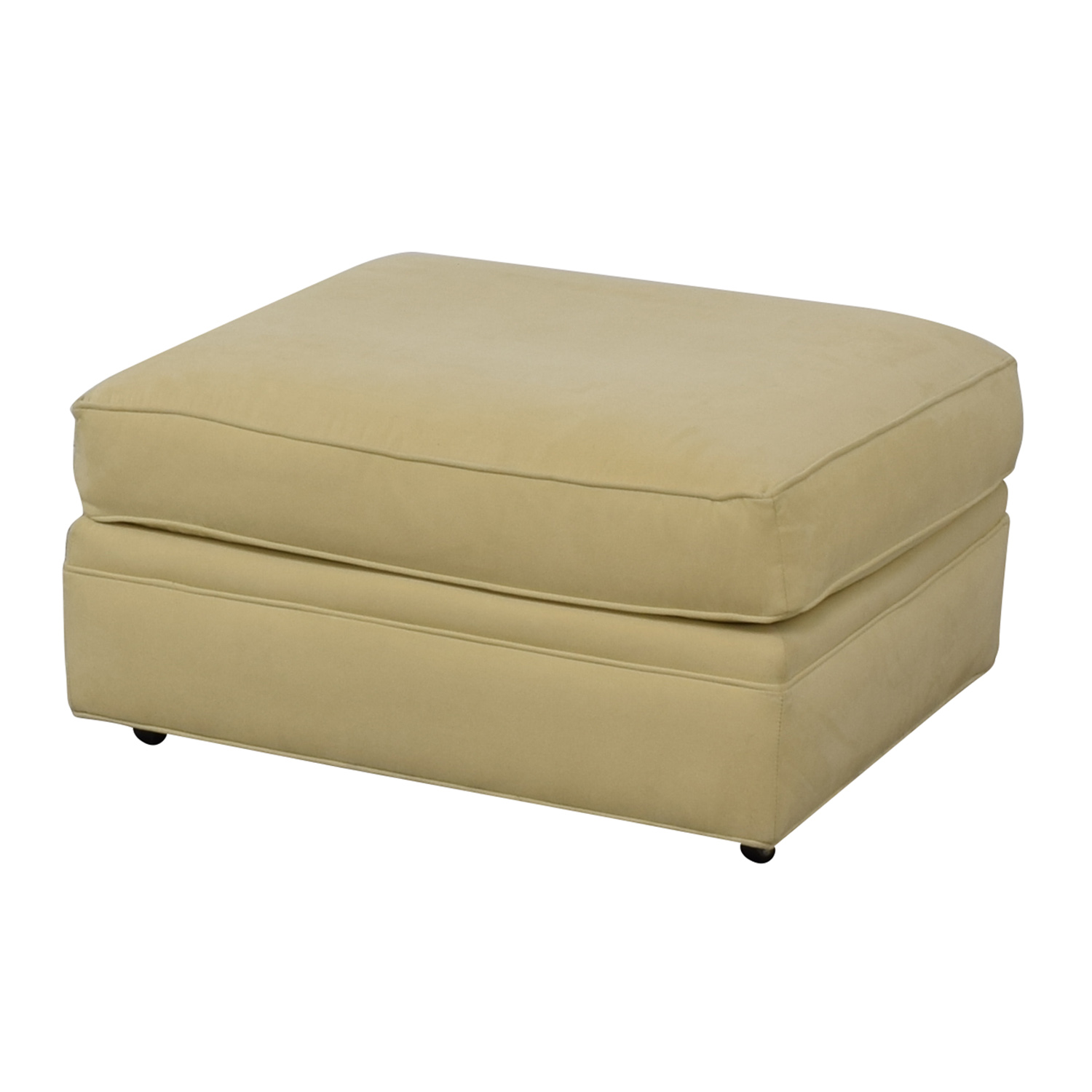 Crate & Barrel Crate & Barrel Beige Ottoman discount