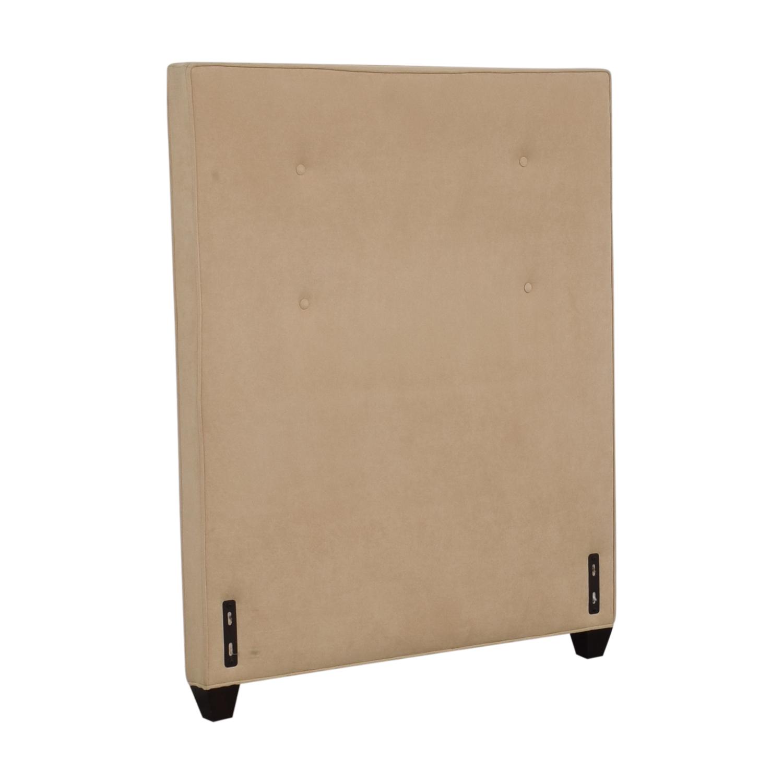 buy Crate & Barrel Beige Twin Headboard Crate & Barrel Beds