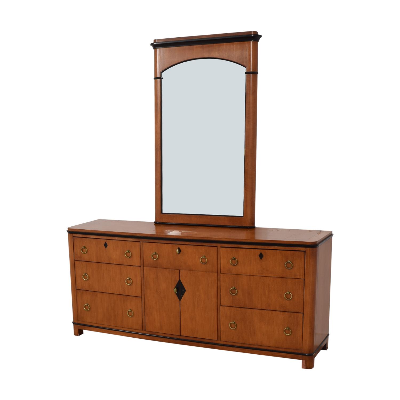 Biedermeier Biedermeier National Mt Airy Nine Drawer Dresser with Mirror second hand