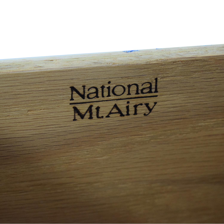 Biedermeier Biedermeier National Mt Airy Nine Drawer Dresser with Mirror nj