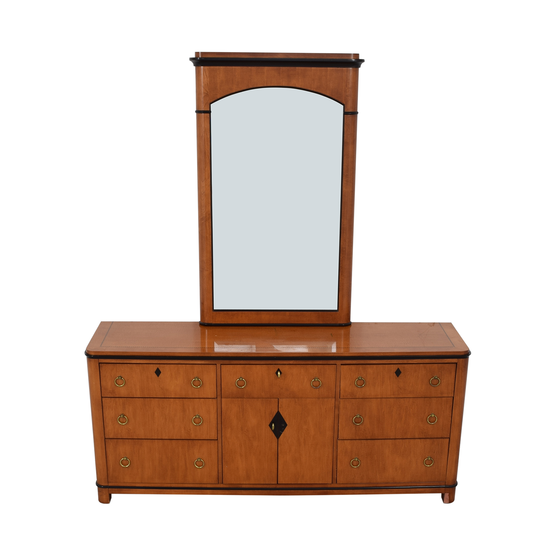 Biedermeier Biedermeier National Mt Airy Nine Drawer Dresser with Mirror