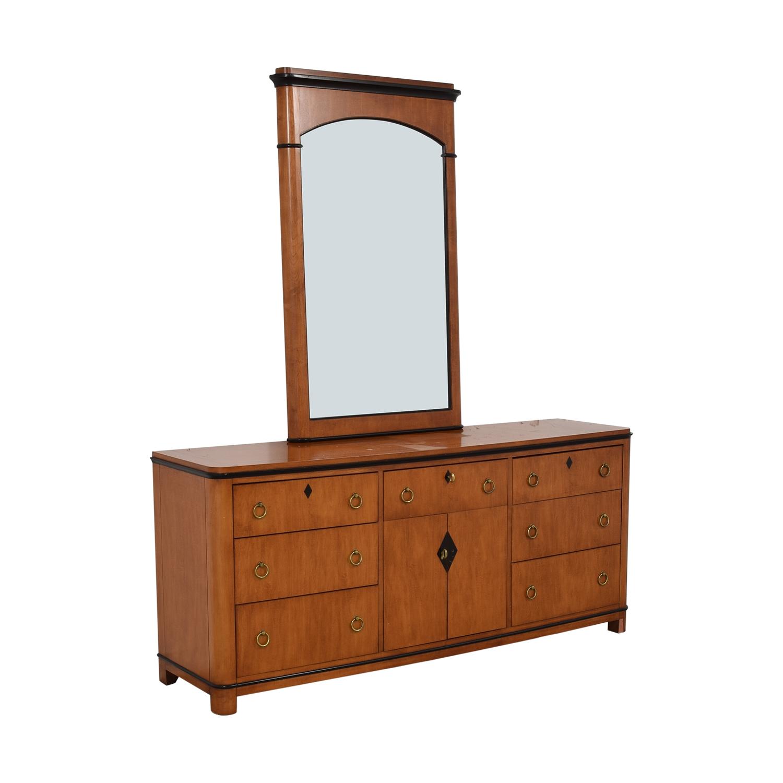Biedermeier Biedermeier National Mt Airy Nine Drawer Dresser with Mirror Storage