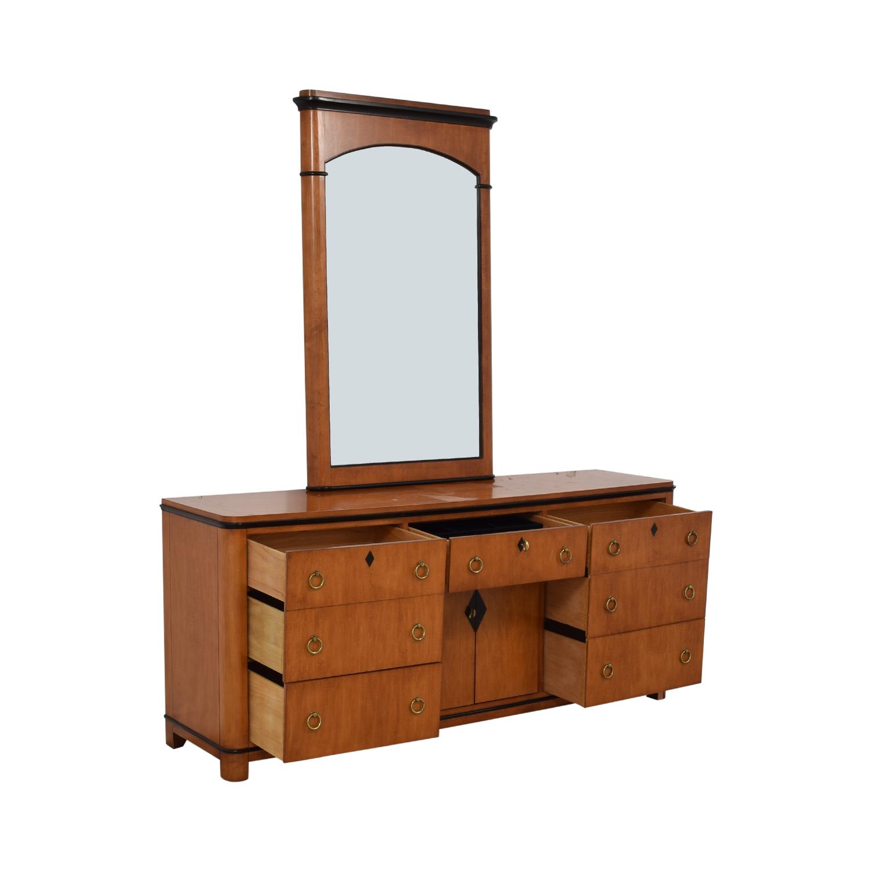 Biedermeier Biedermeier National Mt Airy Nine Drawer Dresser with Mirror coupon