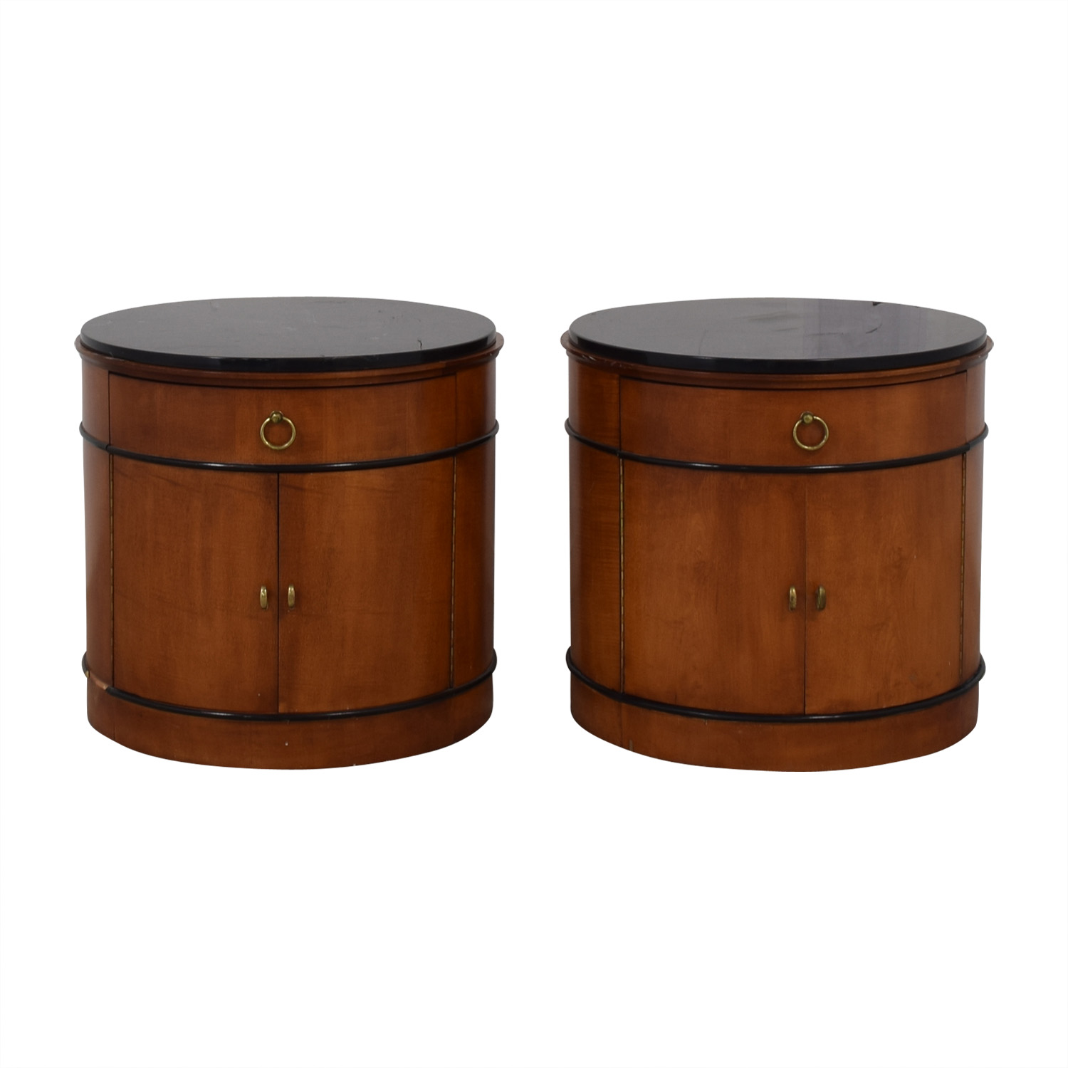 National Mt. Airy National Mt. Airy Round Drum End Tables dimensions