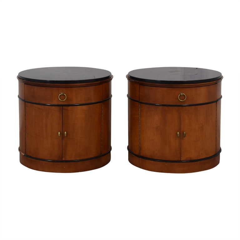 National Mt. Airy National Mt. Airy Round Drum End Tables second hand