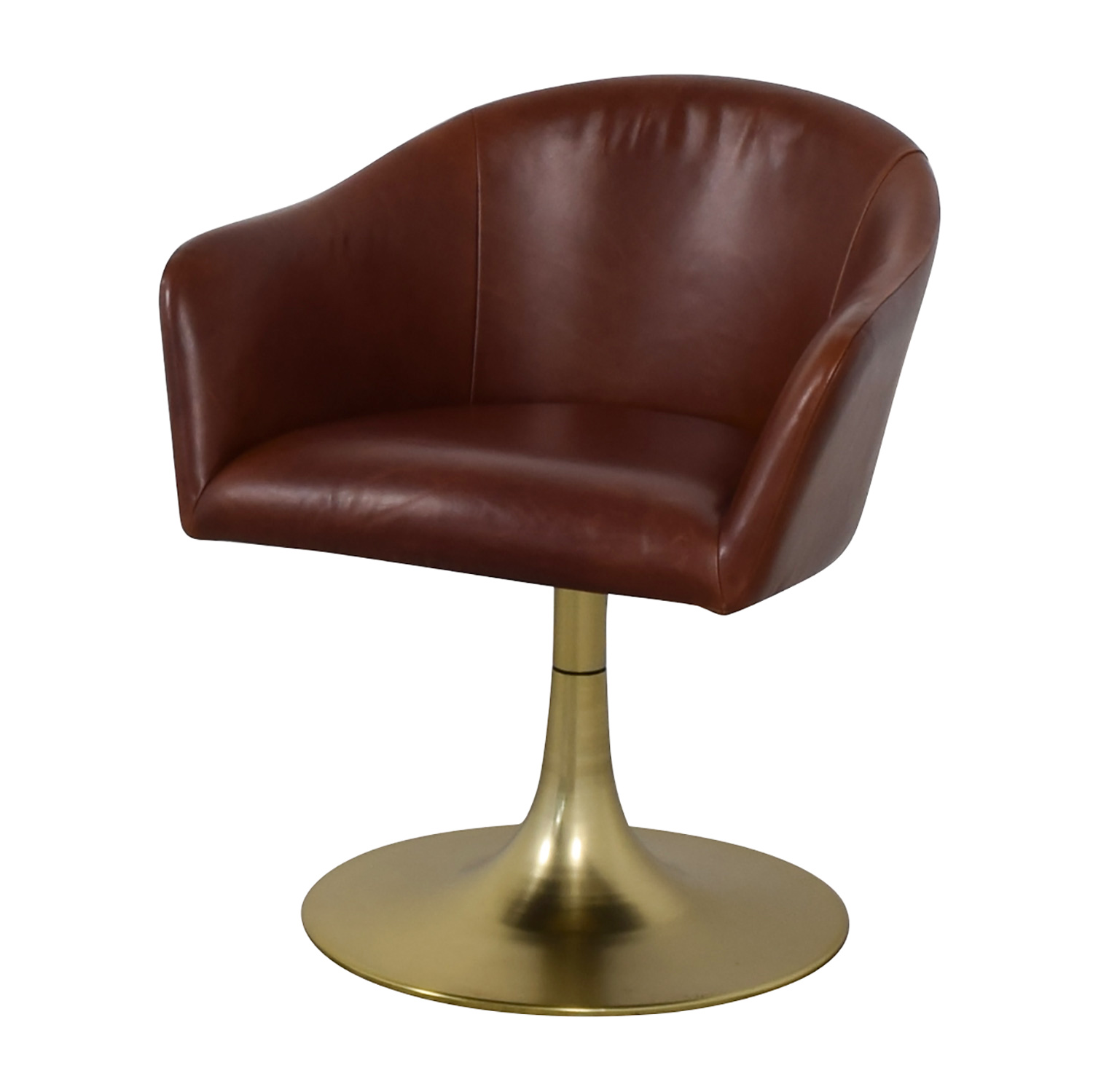 shop West Elm Bond Swivel Office Chair Leather Metal Base West Elm Chairs