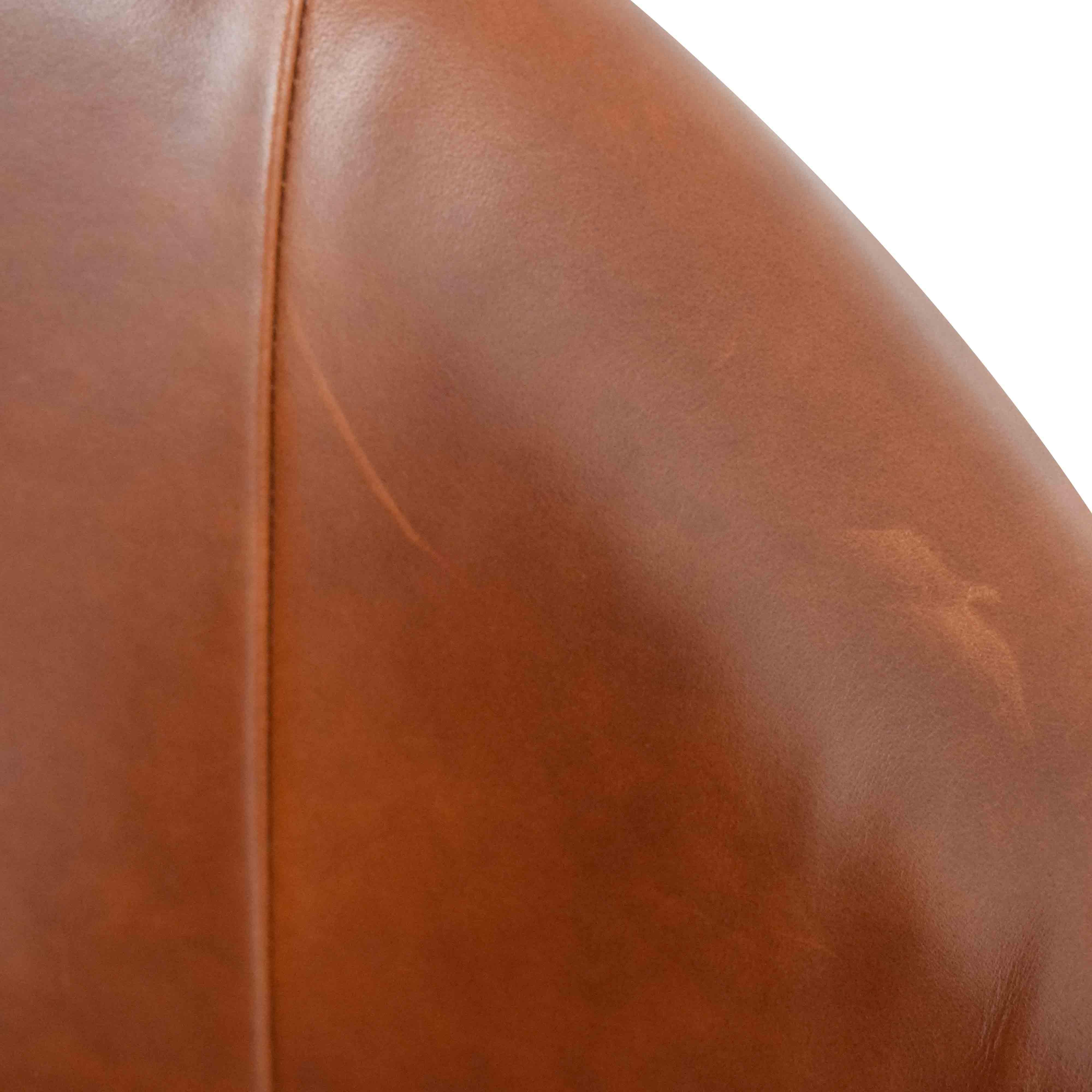 West Elm West Elm Bond Swivel Office Chair Leather Metal Base on sale