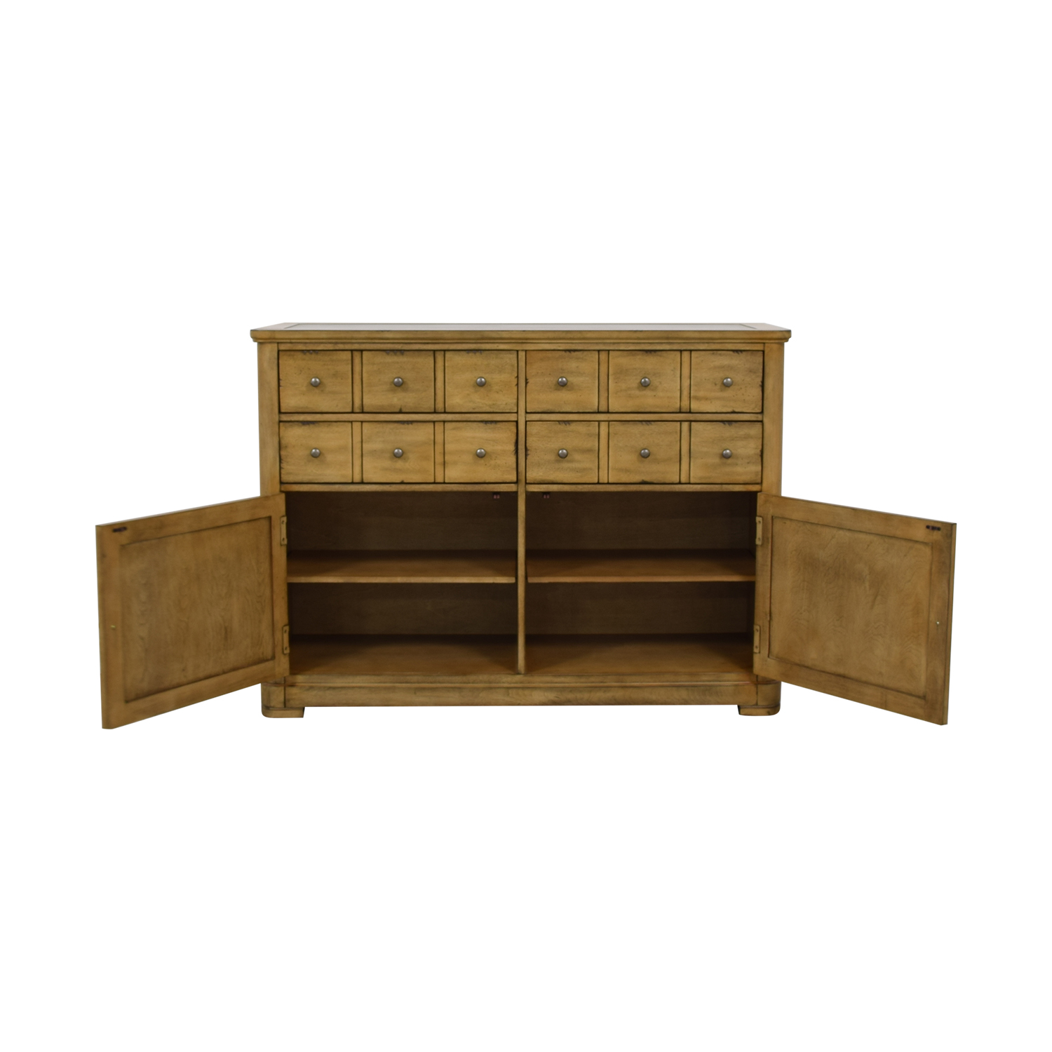 Raymour & Flanigan Raymour & Flanigan Four-Drawer Side Cabinet Buffet dimensions
