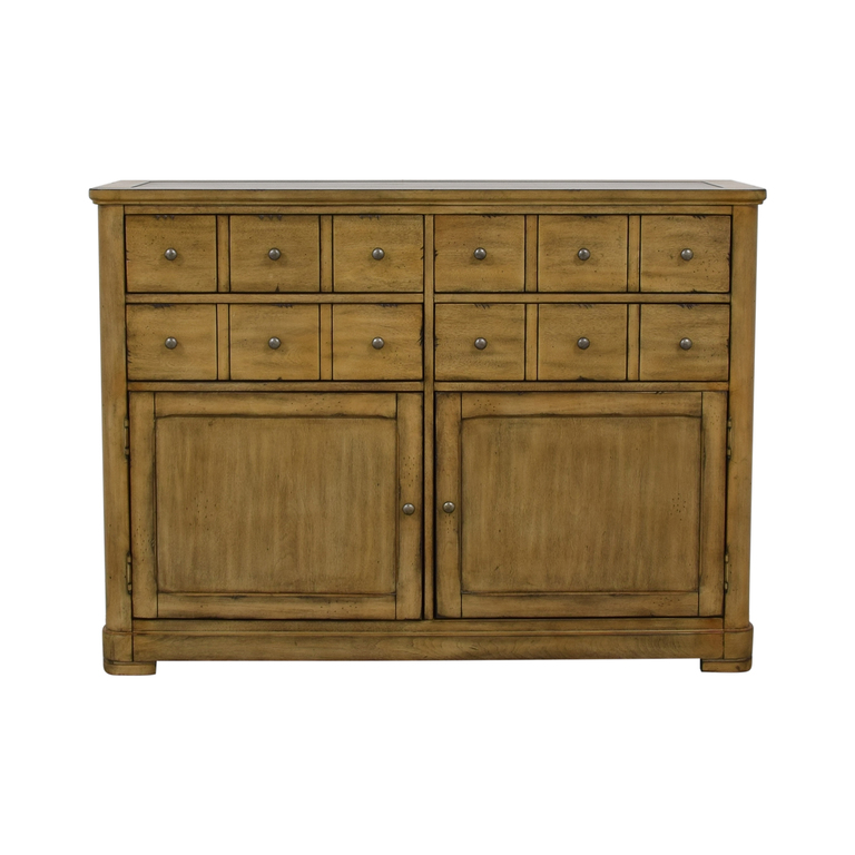 Raymour & Flanigan Raymour & Flanigan Four-Drawer Side Cabinet Buffet for sale