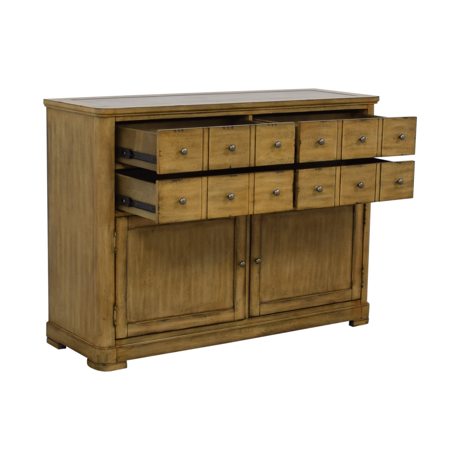 Shop Raymour Flanigan Four Drawer Side Cabinet Buffet