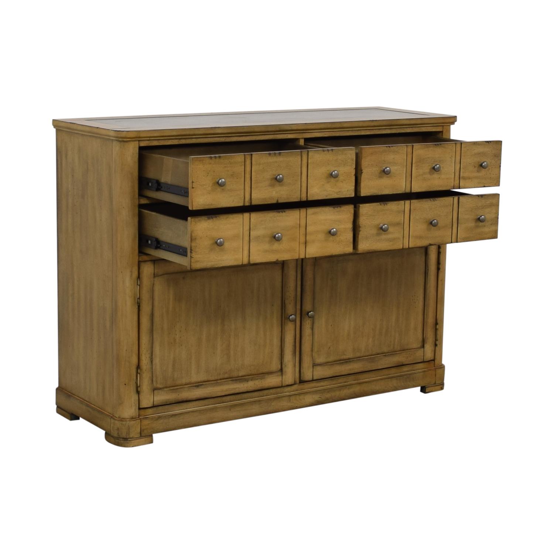 shop Raymour & Flanigan Four-Drawer Side Cabinet Buffet Raymour & Flanigan
