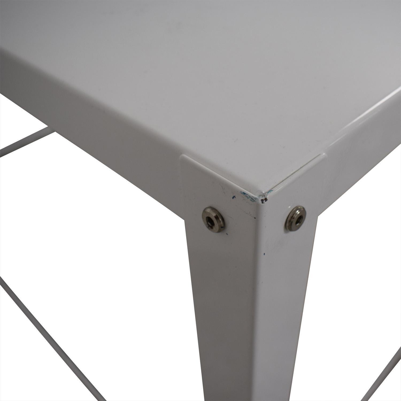 CB2 CB2 Go-Cart White Rolling Desk discount