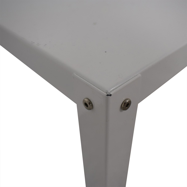 CB2 CB2 Go-Cart White Rolling Desk used