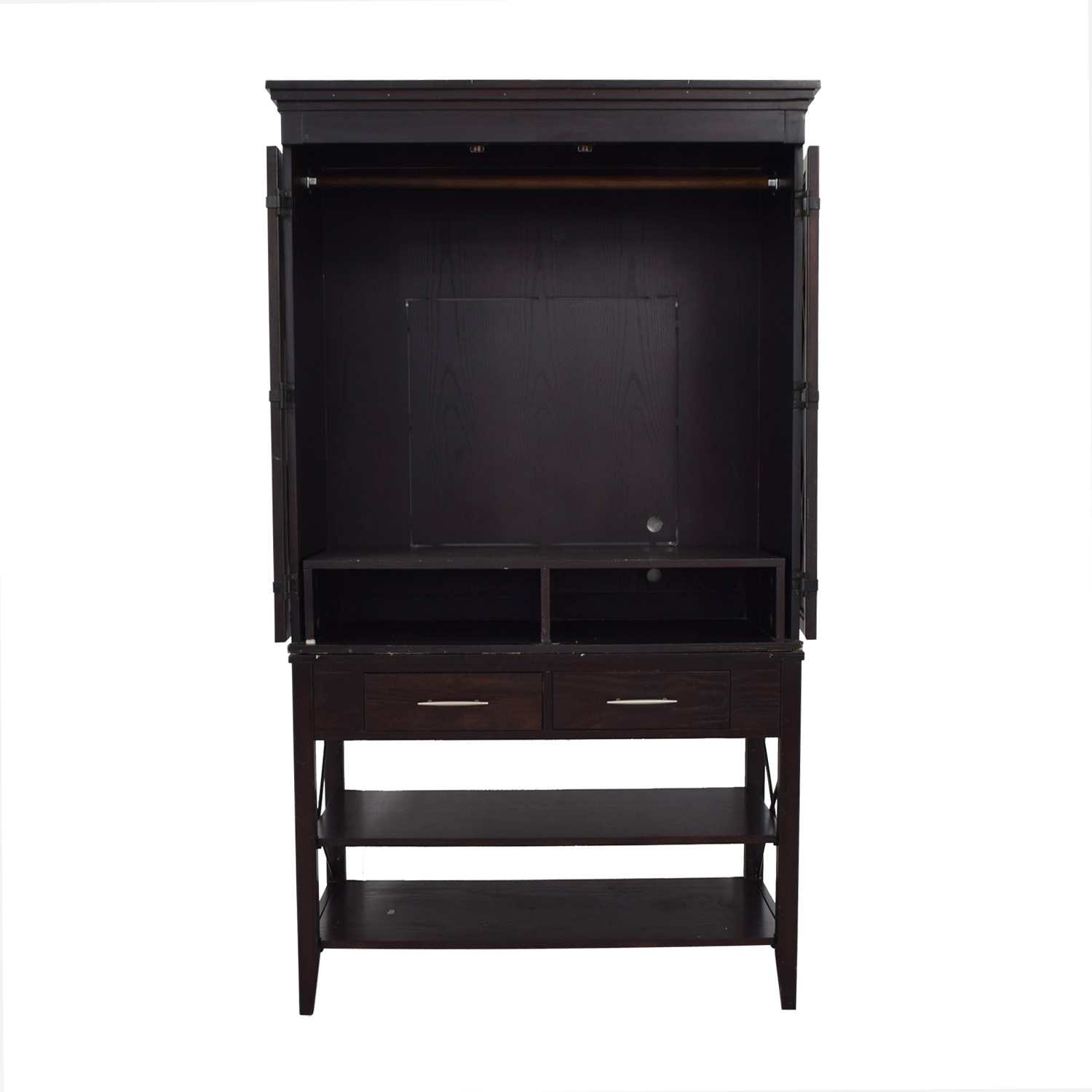 buy Two-Drawer Brown Armoire  Wardrobes & Armoires
