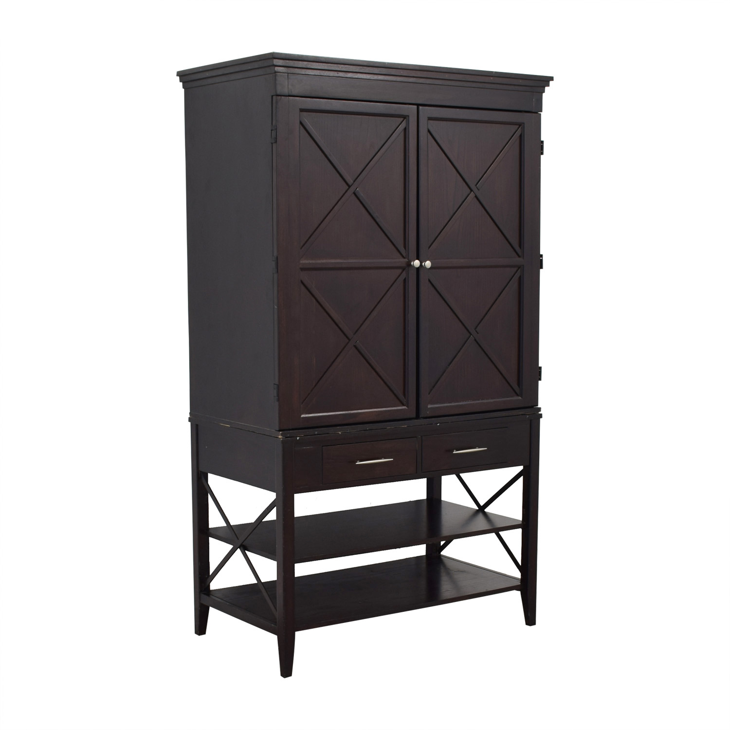Two-Drawer Brown Armoire discount