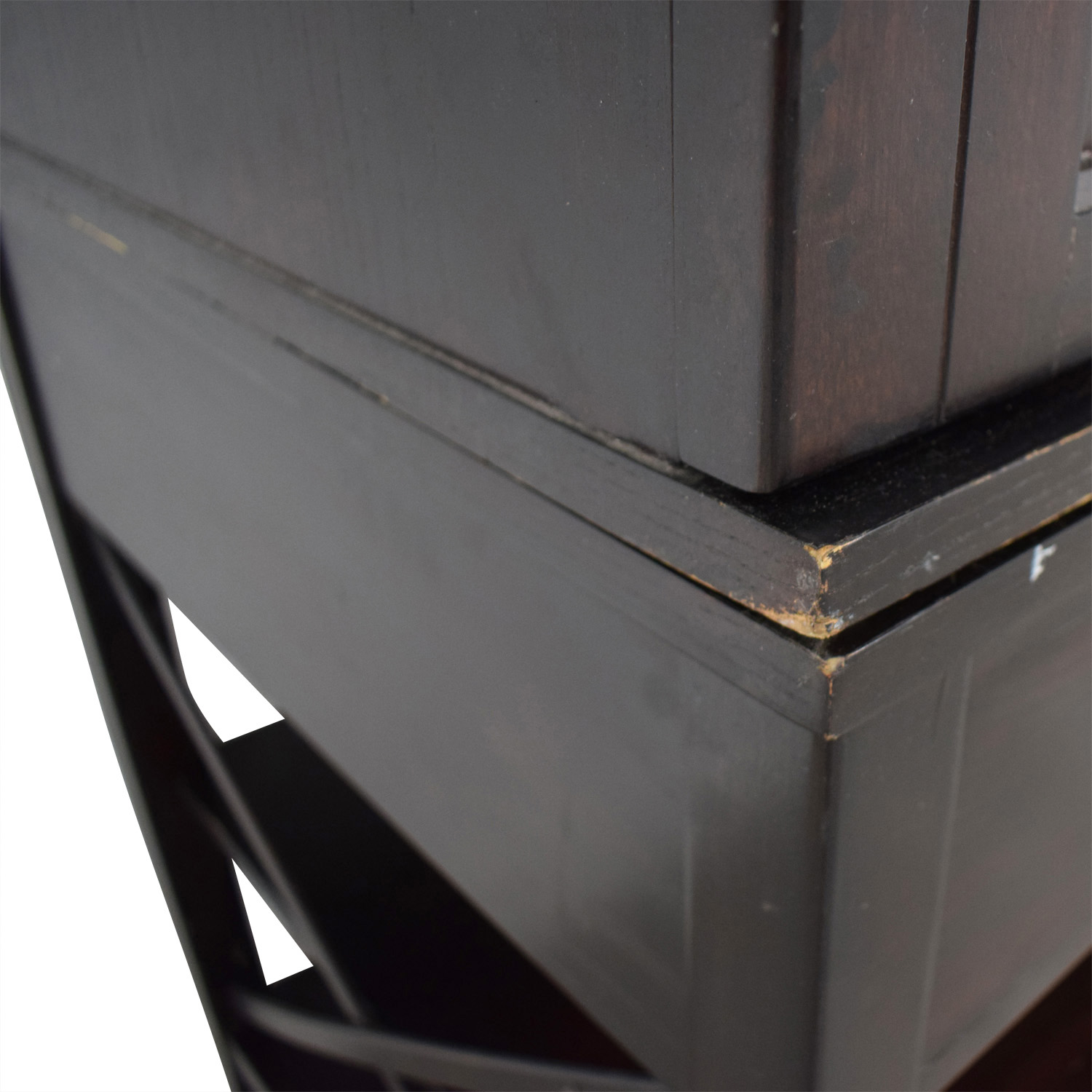 Two-Drawer Brown Armoire / Storage