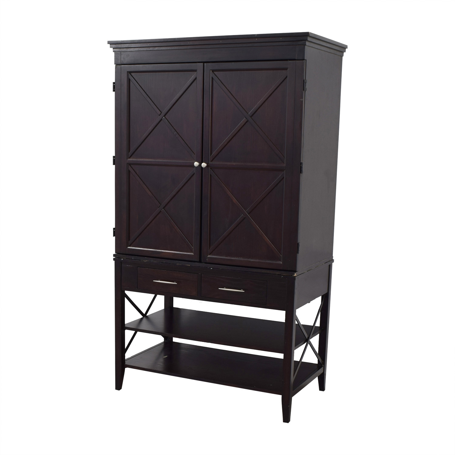 buy  Two-Drawer Brown Armoire online