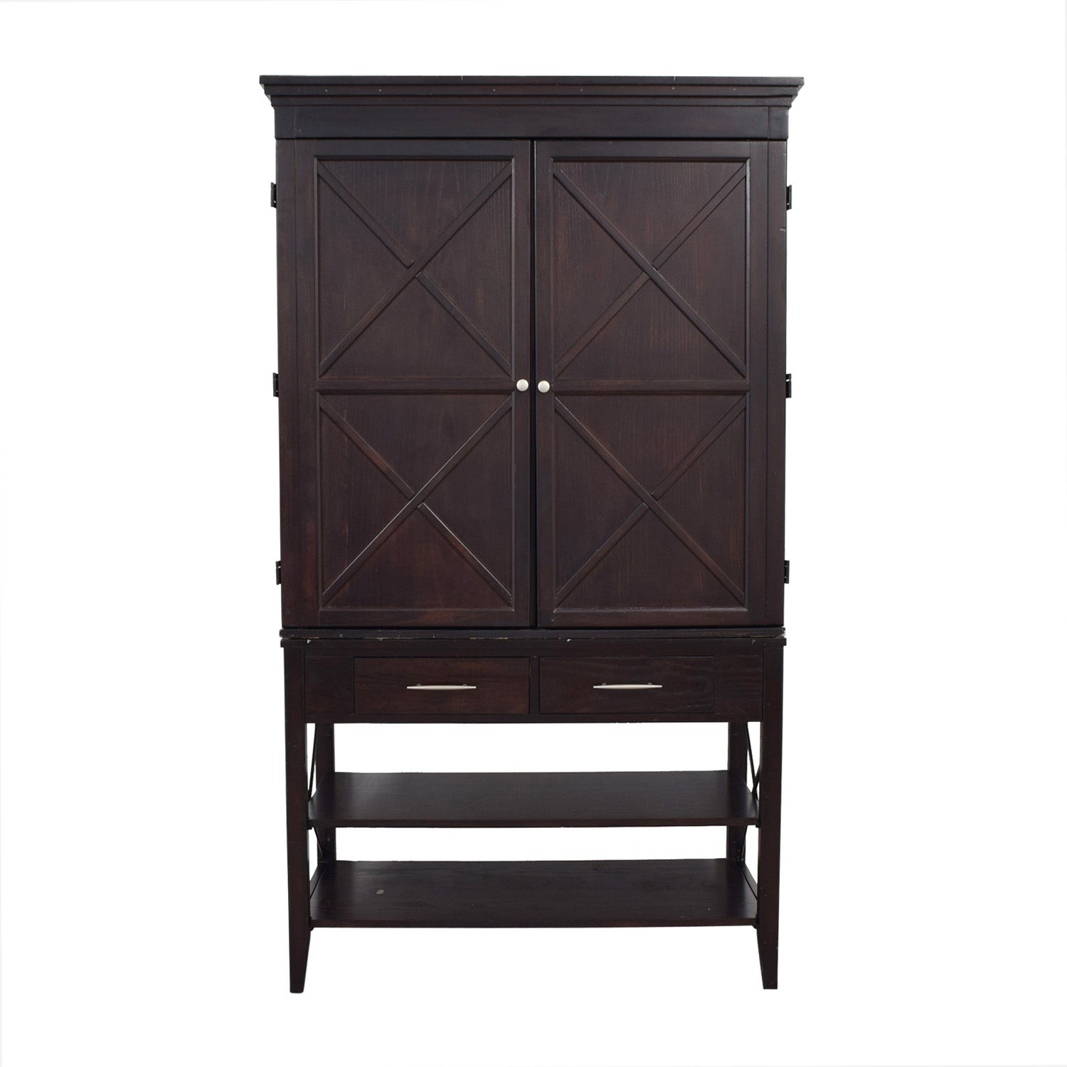 Two-Drawer Brown Armoire / Wardrobes & Armoires