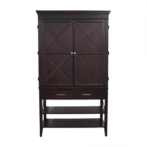 Two-Drawer Brown Armoire nj