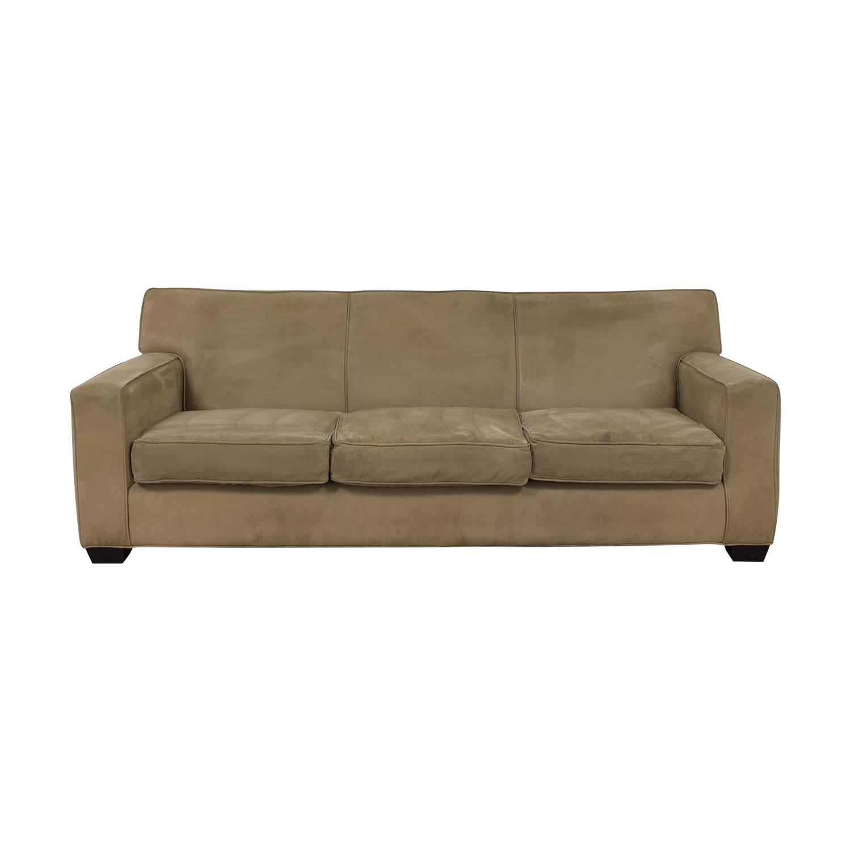 Crate & Barrel Crate & Barrel Tan Sofa for sale
