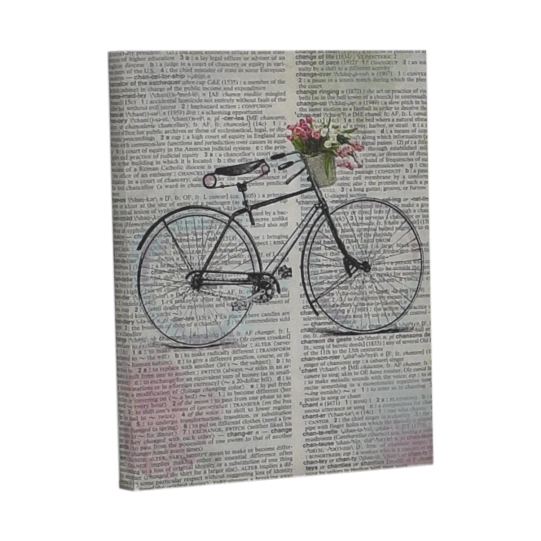 Bike Over Words Print nj